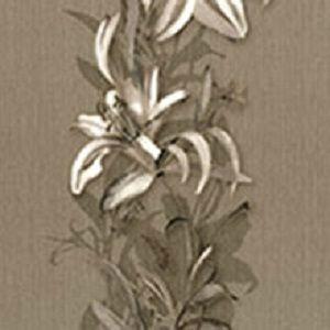 Papel de Parede Florido Marrom