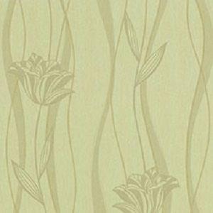 Papel de Parede Floral Verde