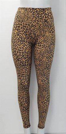 Calça Legging fitness cintura alta  - Estampa oncinha