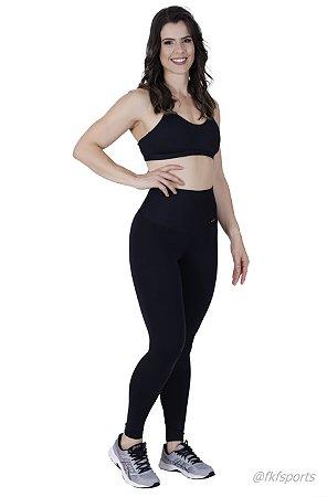 Calça legging | Cós alto | Poliamida