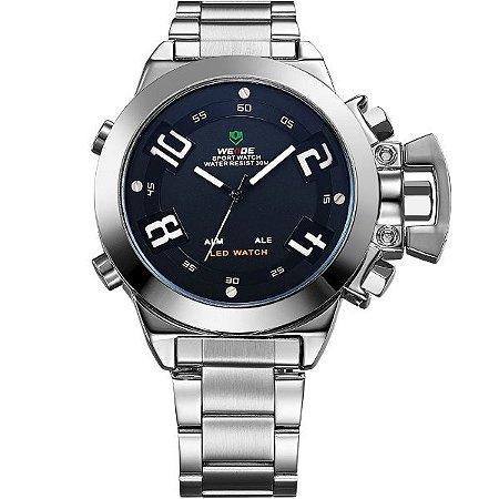 Relógio Masculino Weide Anadigi WH-1008 PR-PT