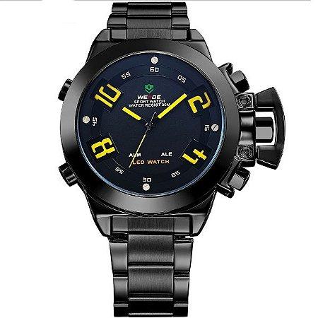 Relógio Masculino Weide Anadigi WH-1008 PT-AM