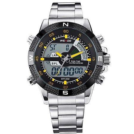 Relógio Masculino Weide Anadigi WH-1104 AM