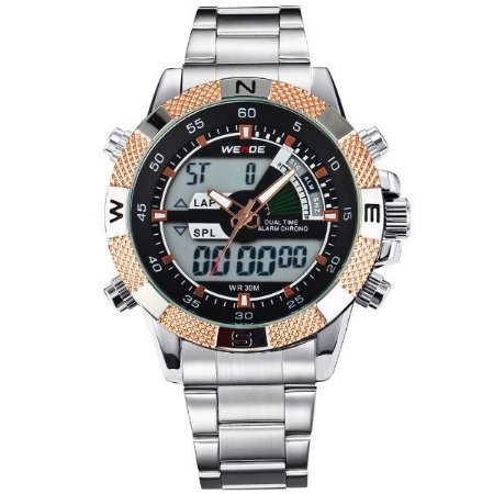 Relógio Masculino Weide Anadigi WH-1104 OU