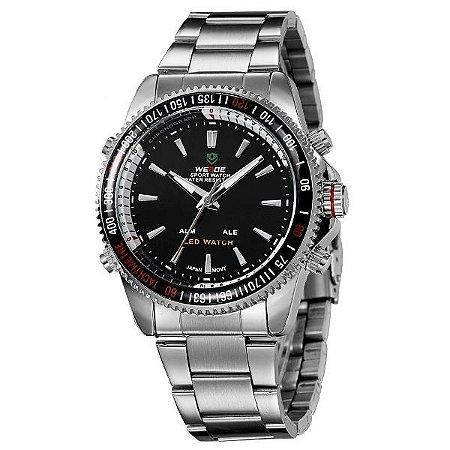 Relógio Masculino Weide Anadigi WH-903 PR-PT