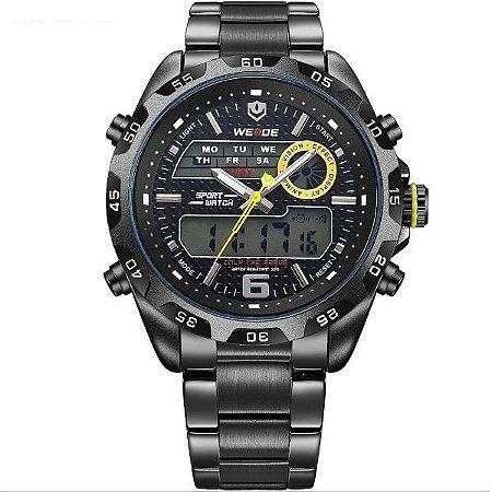 Relógio Masculino Weide Anadigi WH-3403 PT-AM