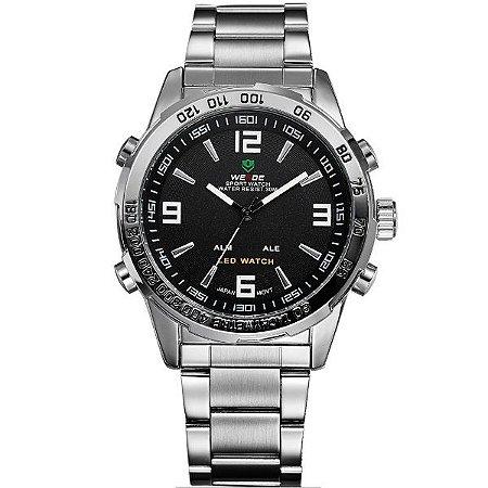 Relógio Masculino Weide Anadigi WH-1009 PR-PT
