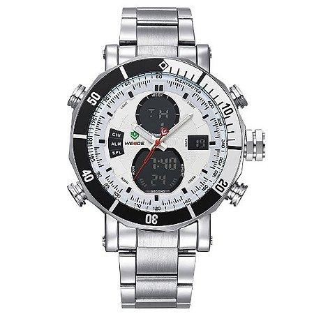 Relógio Masculino Weide Anadigi WH-5203 PR-BR