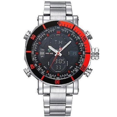 Relógio Masculino Weide Anadigi WH-5203 PR-VM