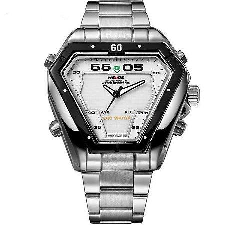 Relógio Masculino Weide Anadigi WH-1102 PR-BR