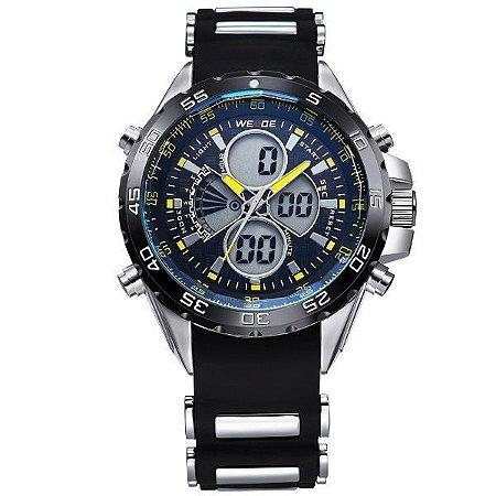 Relógio Masculino Weide Anadigi WH-1103 PT-AM