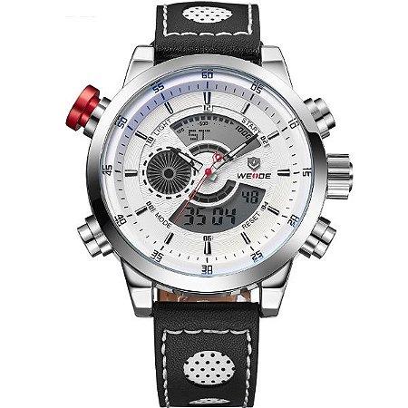 Relógio Masculino Weide Anadigi WH-3401-C PR-BR