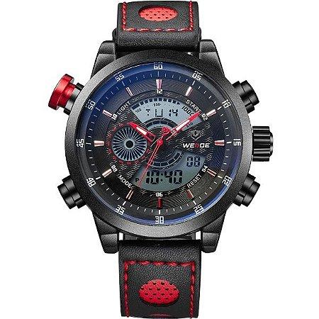 Relógio Masculino Weide Anadigi WH-3401-C PT-VM