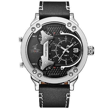 Relógio Masculino Weide Analógico  UV-1506 PR-PT