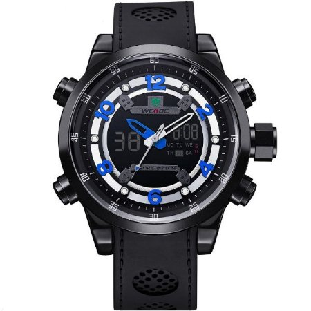 Relógio Masculino Weide Anadigi WH-3315 PT-AZ