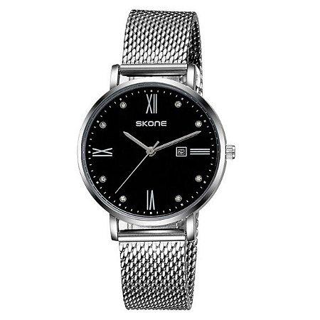 Relógio Masculino Skone Analógico 7392BL - PT