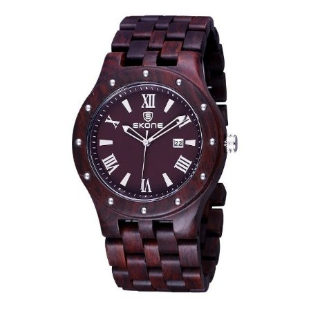 Relógio Masculino Skone Analógico Madeira 7399BG - MR