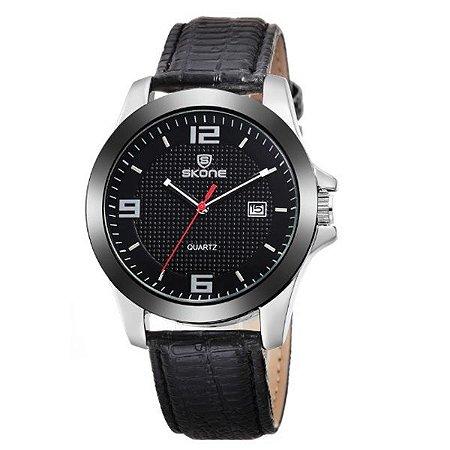 Relógio Masculino Skone Analógico 9180BR - PT
