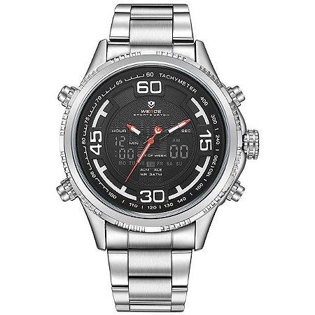 Relógio Masculino Weide Anadigi WH-6306 PR