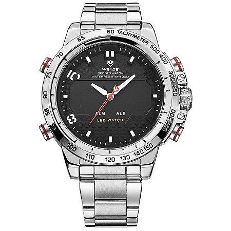Relógio Masculino Weide Anadigi WH-6102 PR