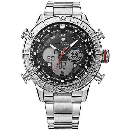 Relógio Masculino Weide Anadigi WH-6308 PR