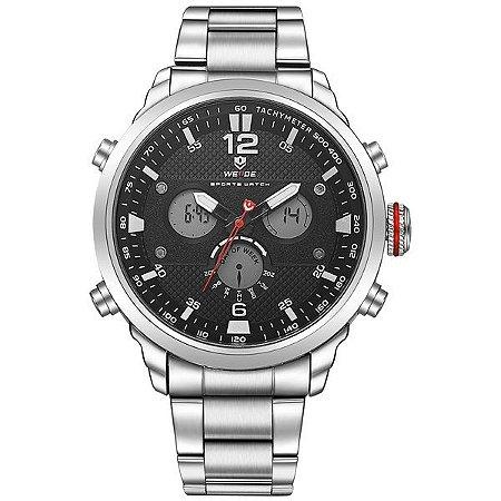Relógio Masculino Weide Anadigi WH-6303 Preto