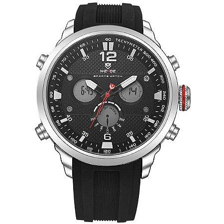 Relógio Masculino Weide Anadigi WH-6303 Prata