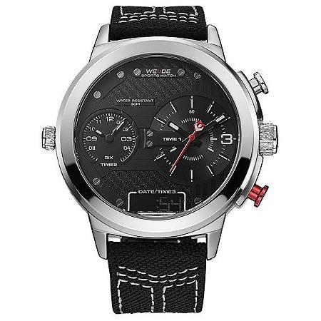 Relógio Masculino Weide Anadigi WH-6405 Prata