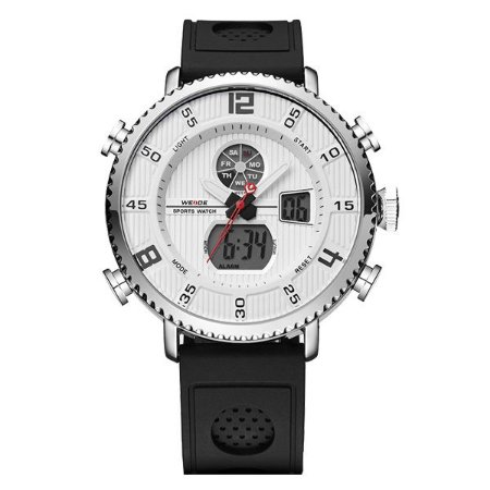 Relógio Masculino Weide Anadigi WH-6106 Branco