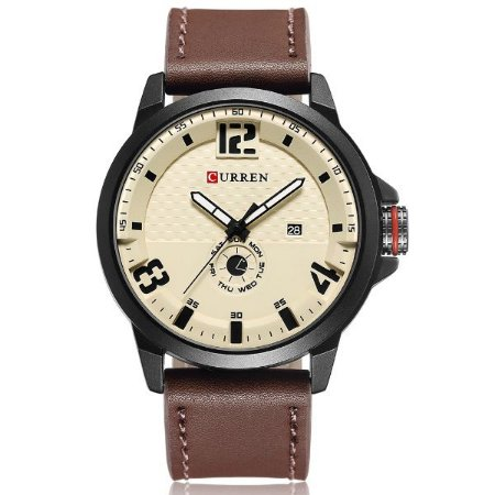 Relógio Masculino Curren Analógico 8253 Bege
