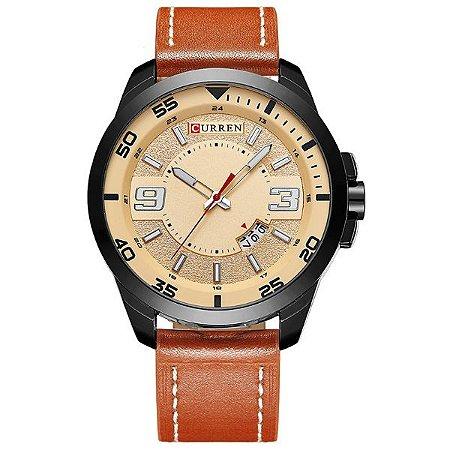 Relógio Masculino Curren Analógico 8213 Bege