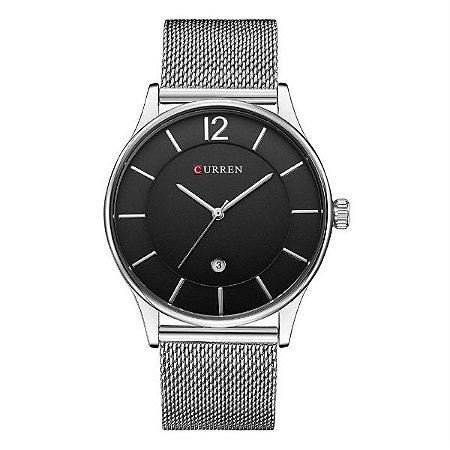 Relógio Masculino Curren Analógico 8231 Prata