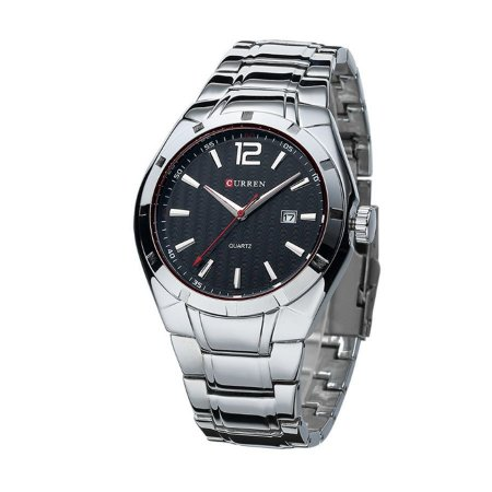 Relógio Masculino Curren Analógico 8103 Prata e Preto