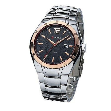 2811c7ca823 Relógio Masculino Curren Analógico 8103 Dourado e Preto - Amigonauta