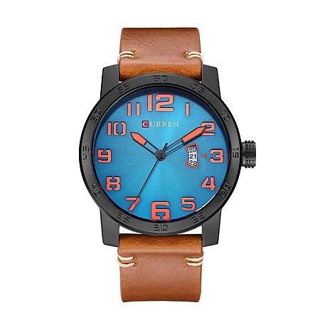 Relógio Masculino Curren Analógico 8254 Preto e Azul