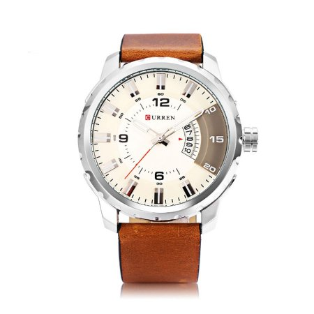 Relógio Masculino Curren Analógico 8245 Prata