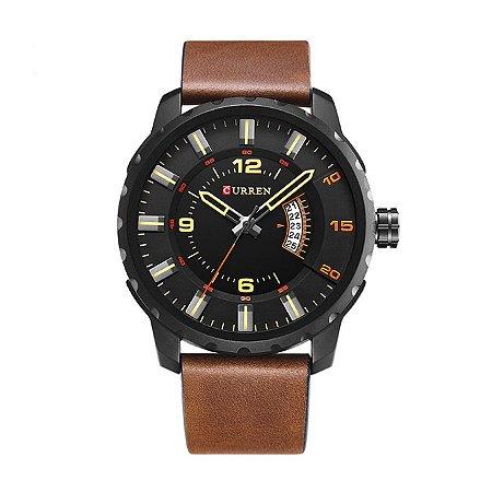 Relógio Masculino Curren Analógico 8245 Preto e Vermelho