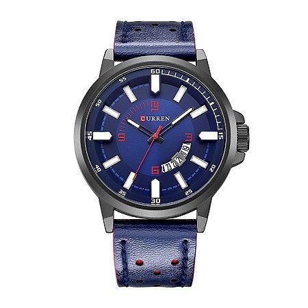 Relógio Masculino Curren Analógico 8228 Preto e Azul