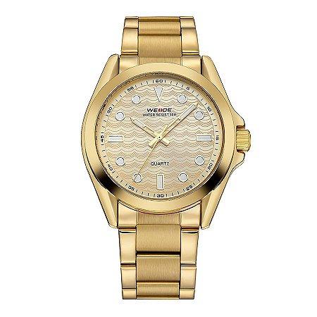 Relógio Masculino Weide Analógico WH802 Dourado