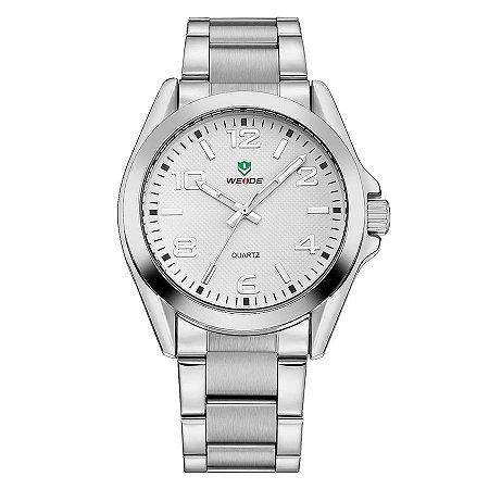 Relógio Masculino Weide Analógico WH801G Prata e Branco