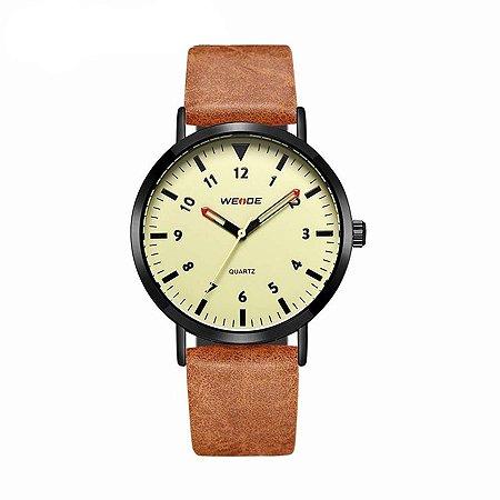 Relógio Masculino Weide Analógico WD003 Marrom/Bege