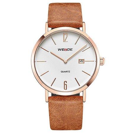Relógio Masculino Weide Analógico WD007 Marrom/Cobre