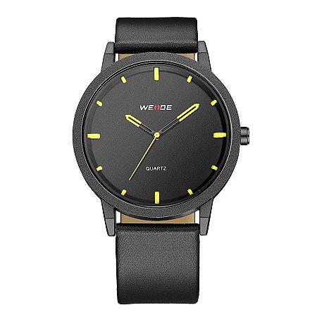 Relógio Masculino Weide Analógico WD001 Preto/Amarelo