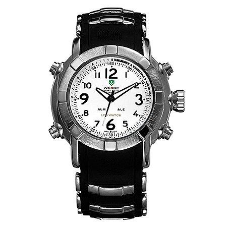 Relógio Masculino Weide Anadigi o WH-1106 - Preto/Branco