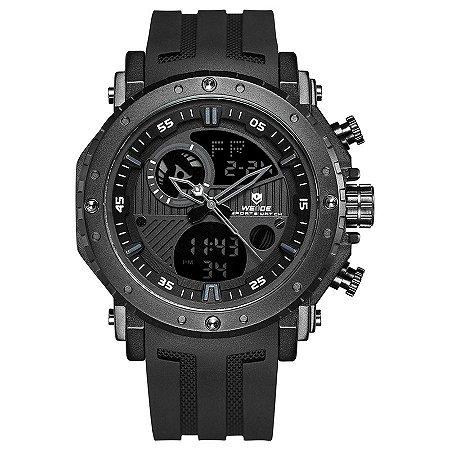 Relógio Masculino Weide Anadigi WH-6903 - Preto