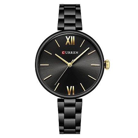 Relógio Feminino Curren Analógico C9017L - Preto