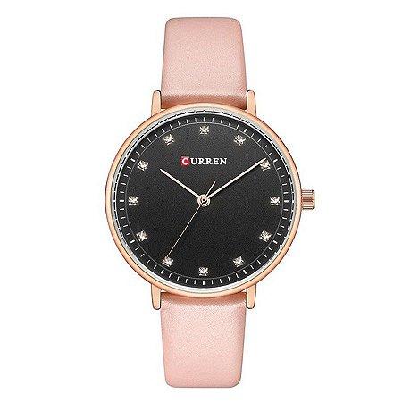 Relógio Feminino Curren Analógico C9023L - Rosa