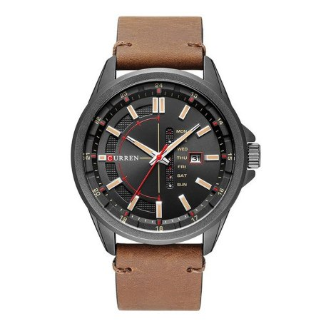 Relógio Masculino Curren Analógico 8307 - Preto e Marrom
