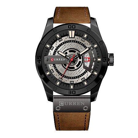 Relógio Masculino Curren Analógico 8301 - Preto e Marrom