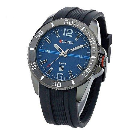 Relógio Masculino Curren Analógico 8178 - Preto e Azul